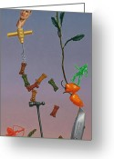Peppers Greeting Cards - Tenuous Still-Life 3 Greeting Card by James W Johnson