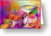 Mexican Pastels Greeting Cards - Tequilas Greeting Card by Lydia L Kramer