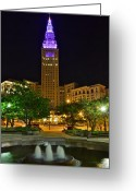 Opulent Greeting Cards - Terminal Tower Greeting Card by Robert Harmon