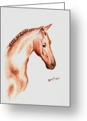 Remy Francis Greeting Cards - Terracota Bronco Greeting Card by Remy Francis