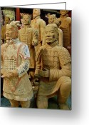 Clay Greeting Cards - Terracotta Warriors Greeting Card by Dorota Nowak