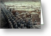 Ronnie Glover Greeting Cards - Terracotta Warriors Greeting Card by Ronnie Glover