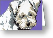 Contemporary Dog Portraits Greeting Cards - Terrier Mix Greeting Card by Slade Roberts