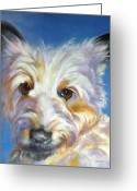 Cairn Terrier Greeting Cards - Terrier Time Greeting Card by Susan A Becker