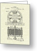 Tesla Greeting Cards - Tesla Motor 1888 Patent Art Greeting Card by Prior Art Design