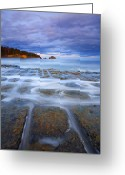 Tides Greeting Cards - Tesselated Sunset Greeting Card by Mike  Dawson