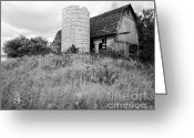 Round Barn Greeting Cards - Tessman Barn Wauckesha Greeting Card by Jan Faul