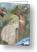 Sanctified Greeting Cards - Tetelesti It Is Finished Greeting Card by Cindy Wright