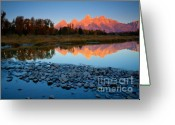 Natures Beauty Greeting Cards - Tetons Reflected Greeting Card by Idaho Scenic Images Linda Lantzy