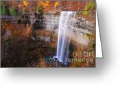 Escarpment Greeting Cards - Tews Falls Greeting Card by Charline Xia