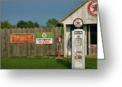 Country Framed Print Greeting Cards - Texaco Ago I  Greeting Card by Steven Ainsworth