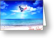 Sports Greeting Cards Greeting Cards - Texan Shine Greeting Card by CMO Prints