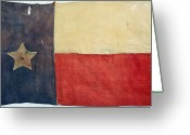 Carousel Collection Greeting Cards - Texas Flag, 1842 Greeting Card by Granger