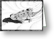 Horned Lizard Greeting Cards - Texas Horned Lizard two Greeting Card by A Leon Miler