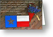 Blue Bonnets Greeting Cards - Texas Icons James 3v17 Greeting Card by Linda Phelps