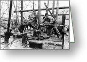 Driller Greeting Cards - Texas: Oil Well, 1939 Greeting Card by Granger