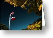 Changing Colors Greeting Cards - Texas Pride Greeting Card by Karen Musick