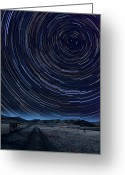 Startrail Greeting Cards - Texas Star Trails Greeting Card by Larry Landolfi