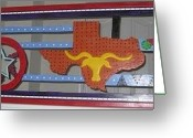 Light My Fire Sculpture Greeting Cards - Texas State Of Mind Greeting Card by Robert Margetts
