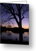 Sunset Framed Prints Photo Greeting Cards - Texas Sunset on the Lake Greeting Card by Kathy Yates