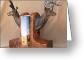 Deer Sculpture Greeting Cards - Texas Trophies Greeting Card by J P Childress