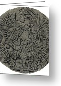 Sacrificial Greeting Cards - Tezcatlipoca And Huitzilopochtli Greeting Card by Photo Researchers