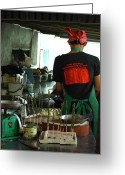 Kitchen Photos Greeting Cards - Thai Cooking Greeting Card by Fiona Allan