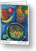 Mango Greeting Cards - Thai Fruits Greeting Card by Dalila Jasmin