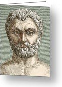 Cosmogony Greeting Cards - Thales, Ancient Greek Philosopher Greeting Card by Sheila Terry