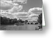 Kingston Greeting Cards - Thames River Cruise Greeting Card by Maj Seda