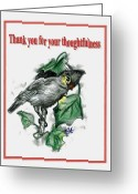 Carol Allen Anfinsen Greeting Cards - Thank You Greeting Card by Carol Allen Anfinsen