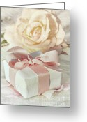 Giving Greeting Cards - Thank you gift at wedding reception Greeting Card by Sandra Cunningham