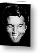 Elvis Presley Art Greeting Cards - Thank you very much Greeting Card by Tilly Williams