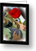 Veteran Photography Greeting Cards - Thank You Veteran Greeting Card by Carolyn Marshall