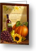 Realize Greeting Cards - Thanksgiving Greeting Card by Anne Wertheim