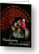 Thanksgiving Art Greeting Cards - Thanksgiving is NOT just Another Holiday - Painterly Greeting Card by Wingsdomain Art and Photography
