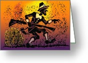 Thanksgiving Greeting Cards - Thanksgiving Pilgrim Greeting Card by Kevin Middleton