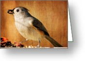 Titmouse Greeting Cards - Thanksgivings Bounty Greeting Card by Lois Bryan