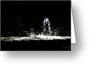 Cold Photo Greeting Cards - That falls like tears from on high Greeting Card by Bob Orsillo