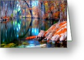 Cypress Tree Greeting Cards - That For Which Im Thankful Greeting Card by Katya Horner