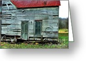 Clapboard Houses Greeting Cards - That Old House Down By the Creek Greeting Card by Julie Dant