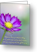 May 24 Greeting Cards - That Your Joy May Be Full Greeting Card by Kathy Clark