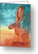 Jackrabbit Greeting Cards - Thats Some Kind of Jack Greeting Card by Tracy L Teeter