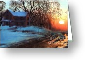 Suburbs Greeting Cards - Thaw Greeting Card by Sergey Zhiboedov