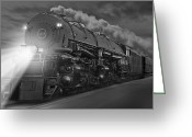 Steam Engine Greeting Cards - The 1218 On the Move Greeting Card by Mike McGlothlen
