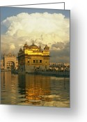 Asian Architecture And Art Greeting Cards - The 16-th Century Golden Temple Greeting Card by Martin Gray
