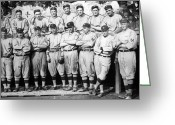 Athlete Greeting Cards - The 1911 New York Giants Baseball Team Greeting Card by International  Images
