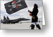 Pirates Greeting Cards - The 428th Fighter Squadron Buccaneer Greeting Card by Stocktrek Images