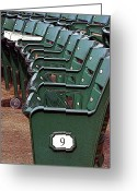 Baseball Poster Greeting Cards - The 9th at Wrigley Greeting Card by Joanne Coyle