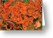 Colors Of Autumn Greeting Cards - The Abstract Days Of Autumn Greeting Card by Andee Photography